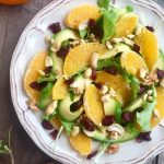 Insalata invernale di arance e avocado
