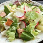 Insalata con asparagi bianchi