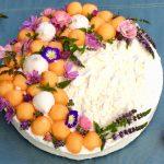 Cheesecake allo yogurt greco con melone e menta