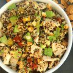 Insalata di quinoa con pollo, avocado e noci