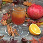 Infuso alla frutta con spremuta di arancia e di melagrana