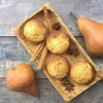 Muffin con pere e spezie senza glutine