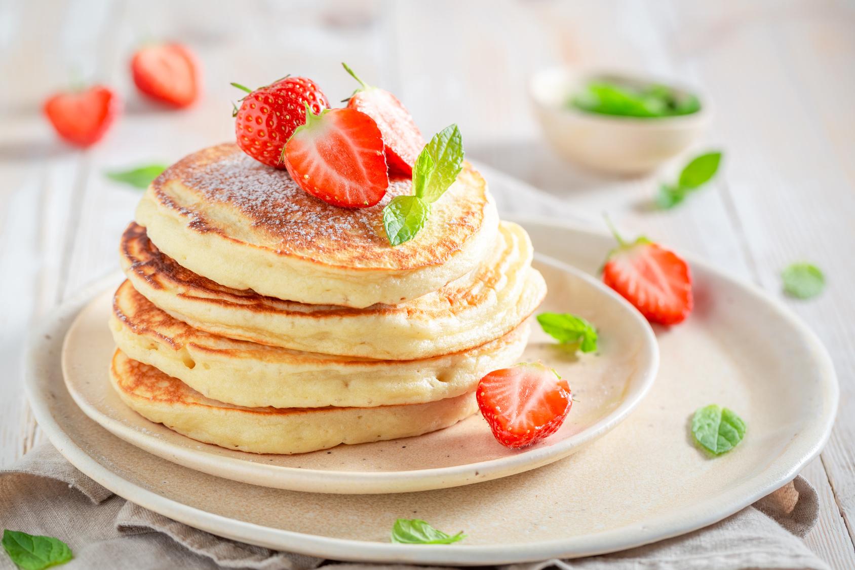 Ricetta Pancake Ipocalorici.Pancakes Allo Yogurt Light La Cucina Salutare