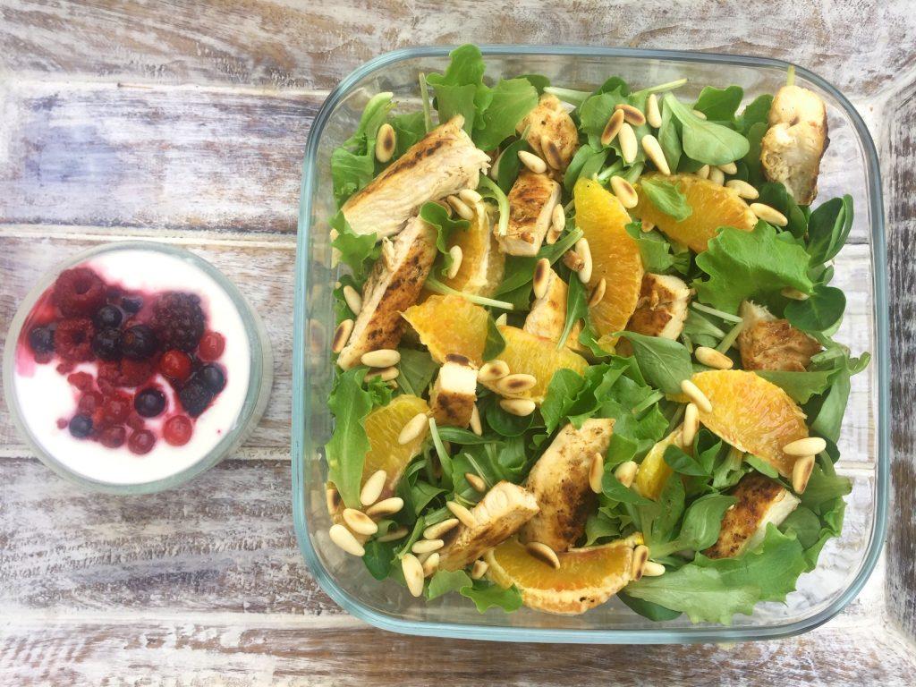 schiscetta: insalata di pollo e arance
